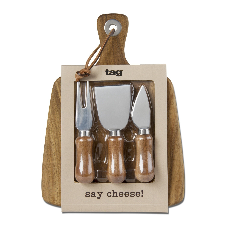 Paddle Cheeseboard & Utensil Set