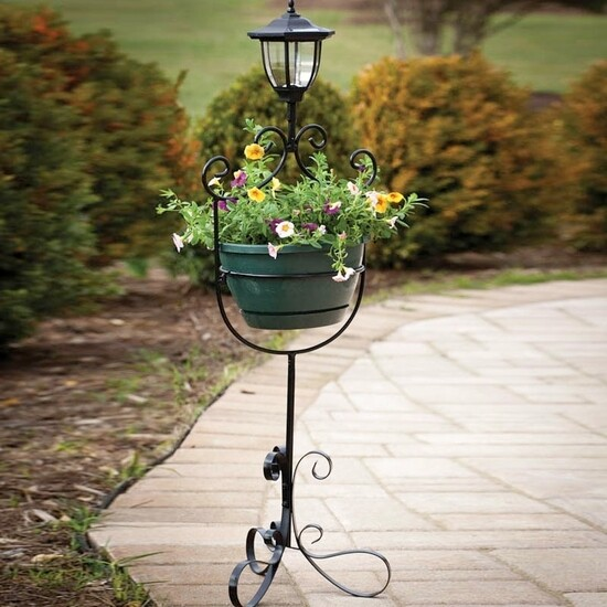 Planter with Solar Light