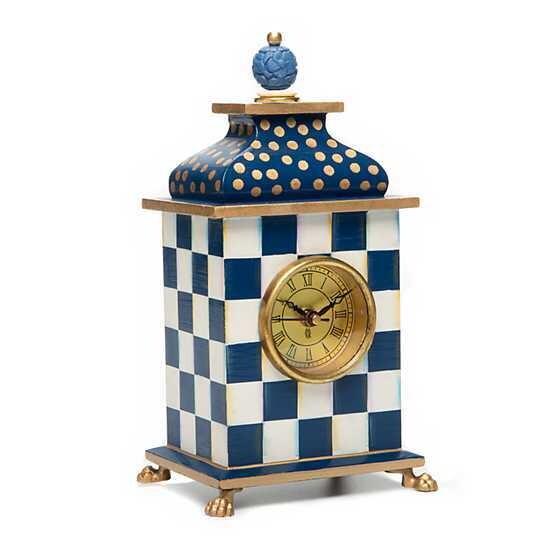 Royal Check Desk Clock