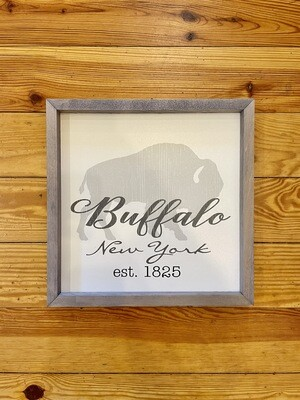 Buffalo Farmhouse Frame 15x15