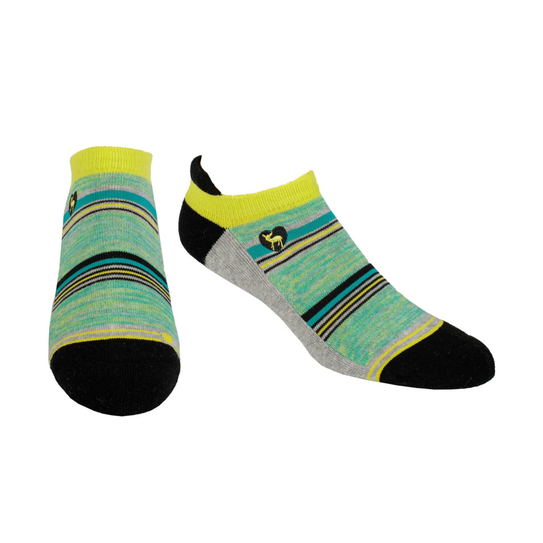 Pudus CC Socks Grey Stripes Ank M/L