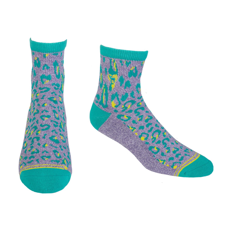 Pudus CC Socks Leopard Purple Q S/M