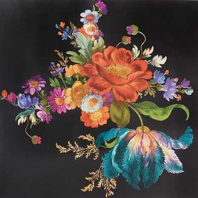 Flower Market Wallpaper - Black