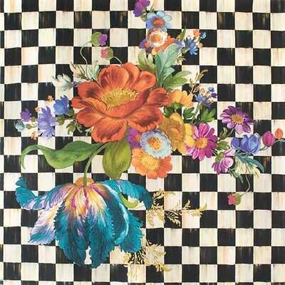 Courtly Flower Market Wallpaper