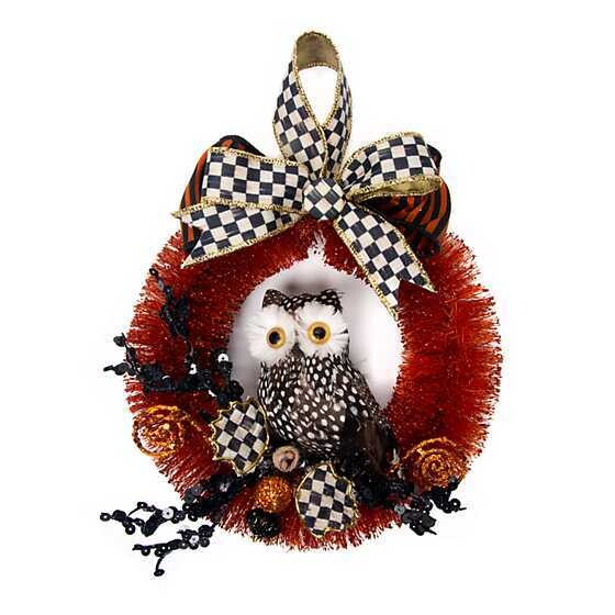 Spotted Owl Wreath