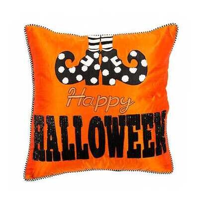 Happy Feet Halloween Pillow