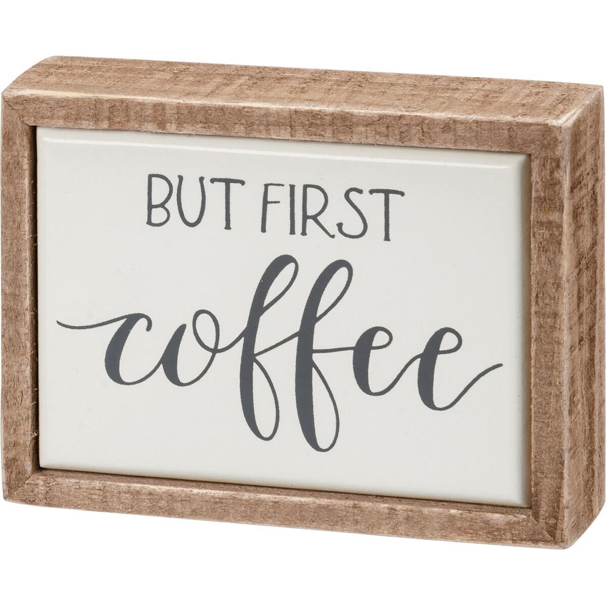 Box Sign Mini - Coffee