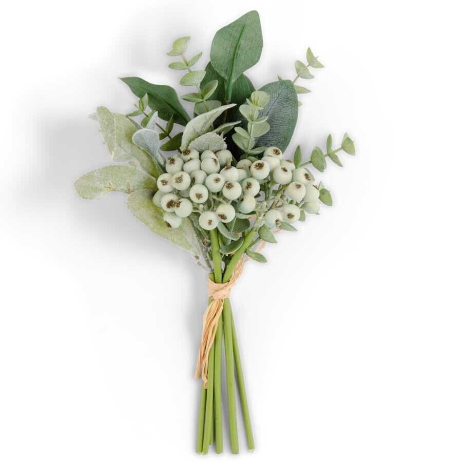 "Mixed Green Foliage w/ Berries Bundle - 13"""