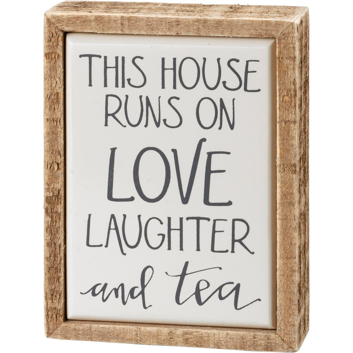 Box Sign Mini - Laughter and Tea