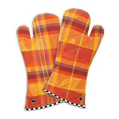 Falling Leaves Oven Mitts - Set of 2