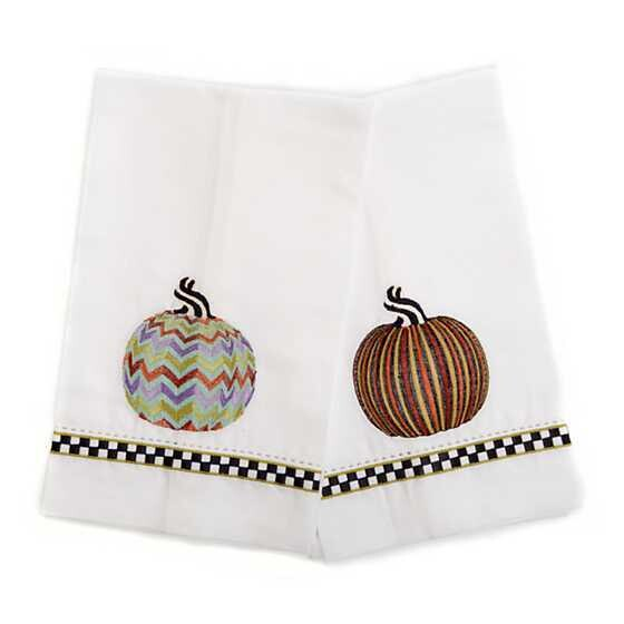 Pumpkin Guest Towels - Set of 2