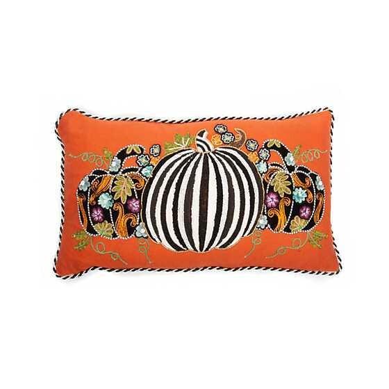 Farmers Market Pumpkin Lumbar Pillow