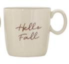 Stoneware Mug - Hello Fall