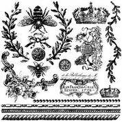 Queen Bee  IOD Décor Stamp ~ 12x12