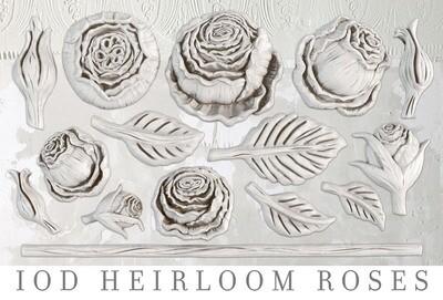 "Heirloom Roses  6"" x 10""  IOD Decor Mould  ~"