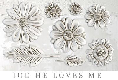 """He Loves Me ~ IOD Decor Mould  ~   6"""" x 10"""""""