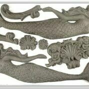 IOD Decor Mould  ~ Sea Sisters   6
