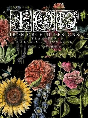 A Brand NEW IOD Decor Transfer - Botanists Journal 12x16 Pad™ 4 sheets