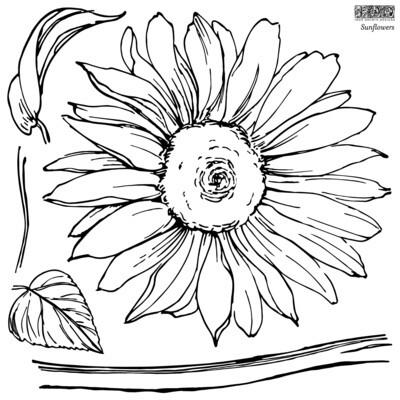 """Sunflower""  ~2021 NEW  IOD  2 Stamps  12X12"