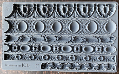 """""""TRIMMINGS 3"""" ~ 2021 NEW - MOULD  6"""" x 10"""""""