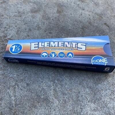 Elements Ultra Rice Cones 1 1/4 6pk