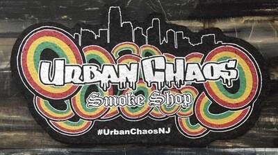 Urban Chaos Skyline Dab mat With UV