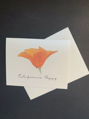 California Poppy Postcard Style A