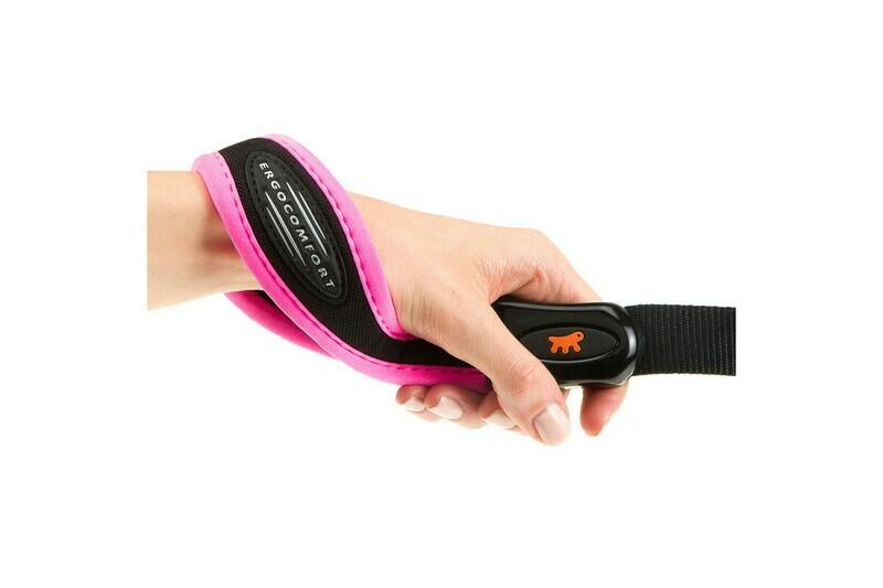 Эргономичный поводок Ferplast Ergofluo G20/120 Pink для собак с ручкой на мягкой подкладке, 20 мм, 120 см