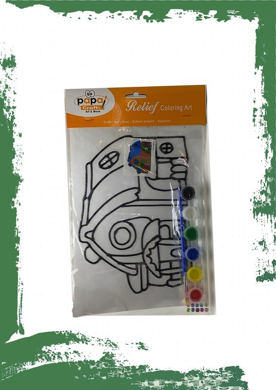 Plastic coloring portrait - شكلين  لوحة تلوين بلاستيك