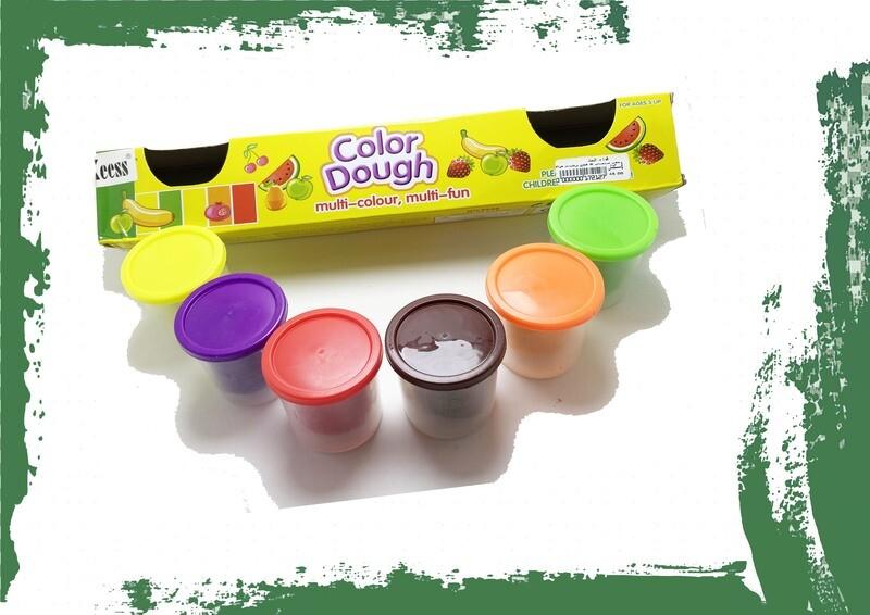 Color dough 6 colors - طقم صلصال 6 ألوان