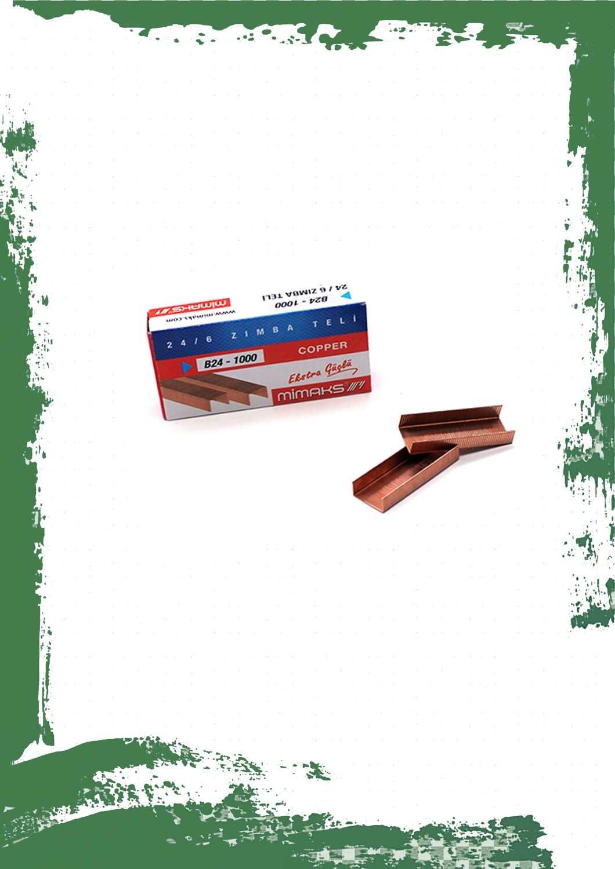 Mimaks copper staples 24/6 - دبابيس دباسة نحاسيه 24/6