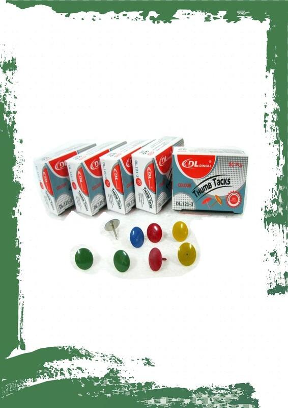Colored pins (10 per box) - دبابيس سبورة ملونة 10 دبابيس في العلبة