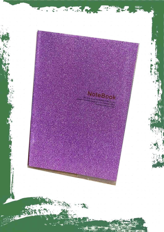 Notebook with glitter cover A6 - نوت بوك بكفر جليتر