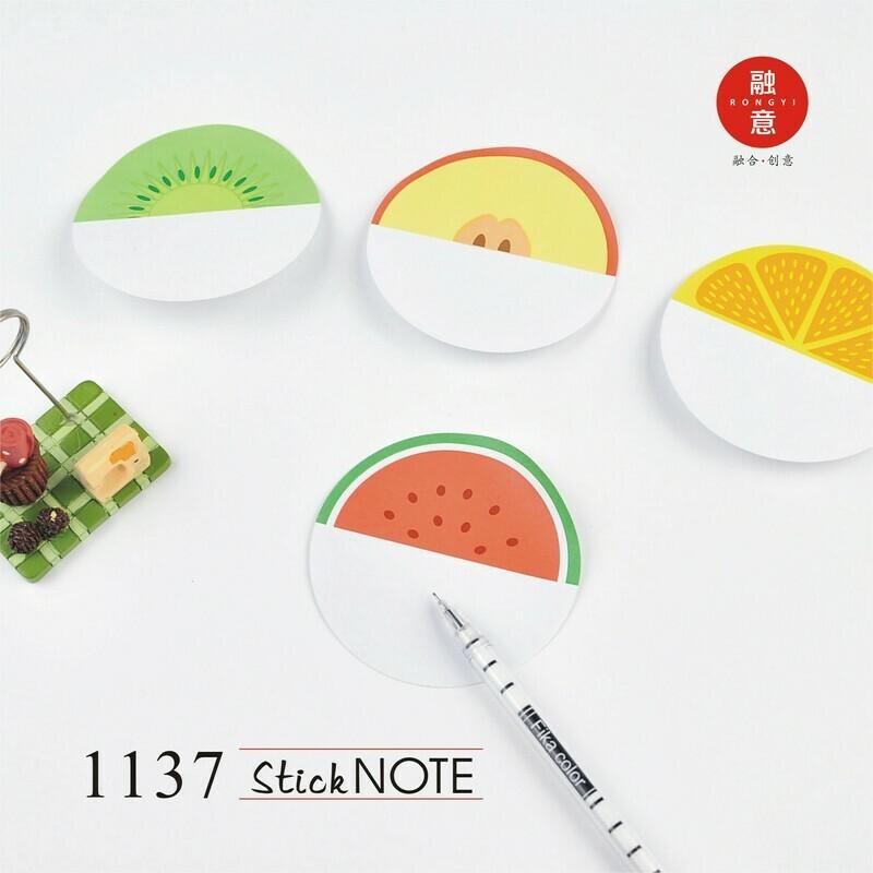 Fruits sticky note