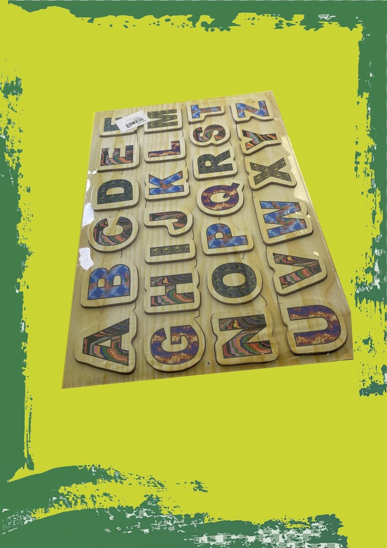 Educational wooden puzzle - بازل تعليمي خشبي