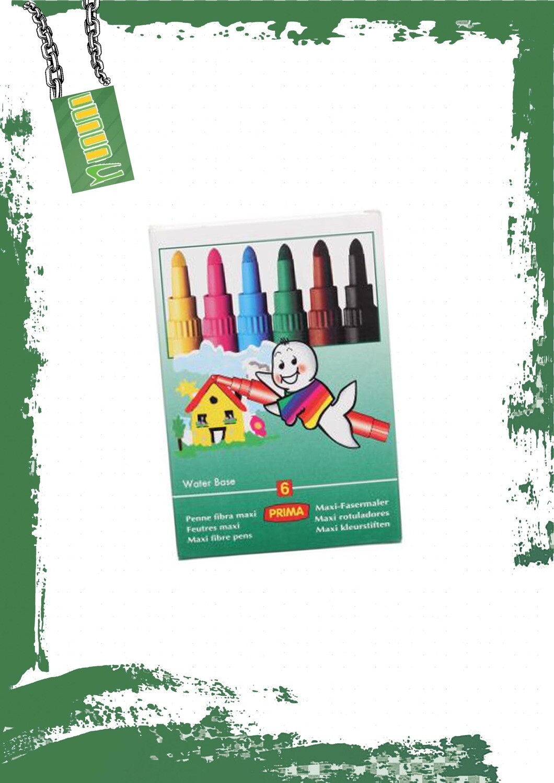 Prima Jumbo Colors, Set Of 6- ألوان بريما جامبو 6 ألوان