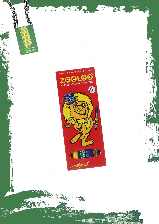 Floamster Colors Zooloo- 6 Colors - ألوان فلوماستر رفيعه 6 ألوان