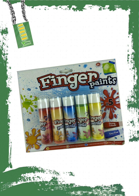 Finger Paints 5 colors - ألوان لليد 5 ألوان