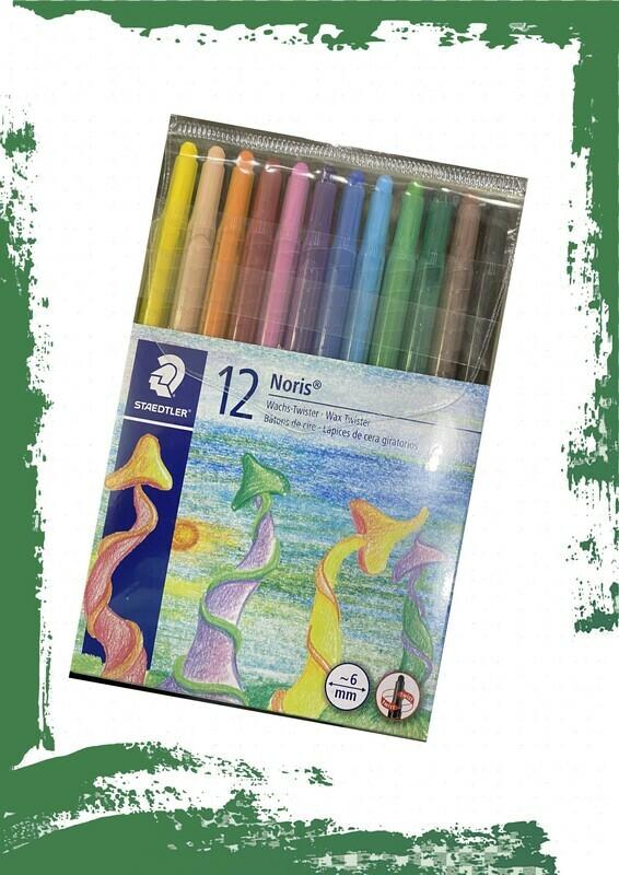 Staedtler Noris 12 wax color twister pens - طقم 12 لون شمع تويست استدلر