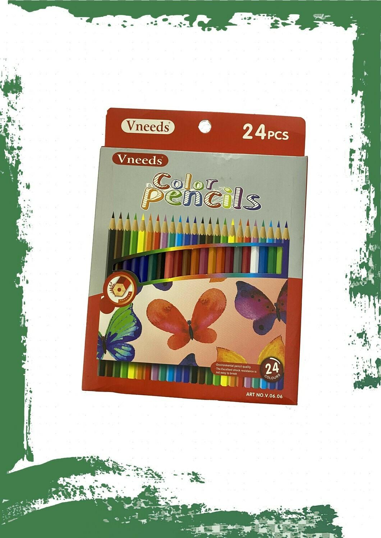 Pencil colors set (24 pencil) - طقم ألوان خشب 24 لون
