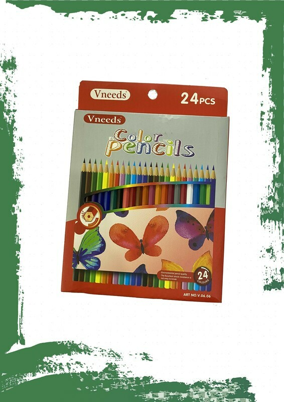 Pencil colors set (24 pencil) - طقم ألوان خشب 24 لون