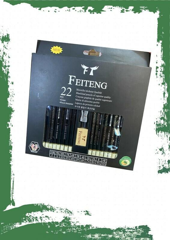 Blacklead pencil set (22 pencils) - طقم أقلام رصاص درجات (22 قلم)و