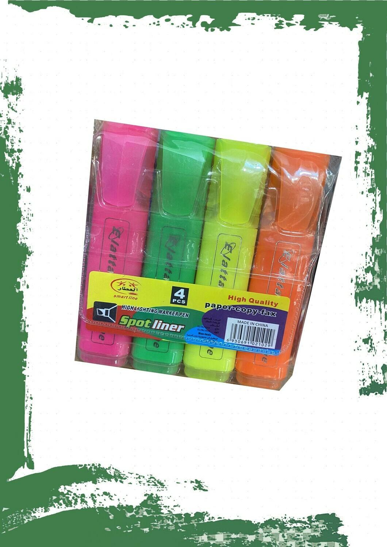 Highlighter 4 colors set - طقم هاي لايتر 4 ألوان