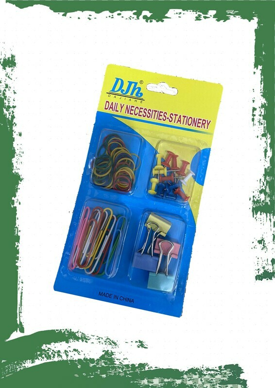 Stationery necessities set - طقم دبابيس ومشابك و استك