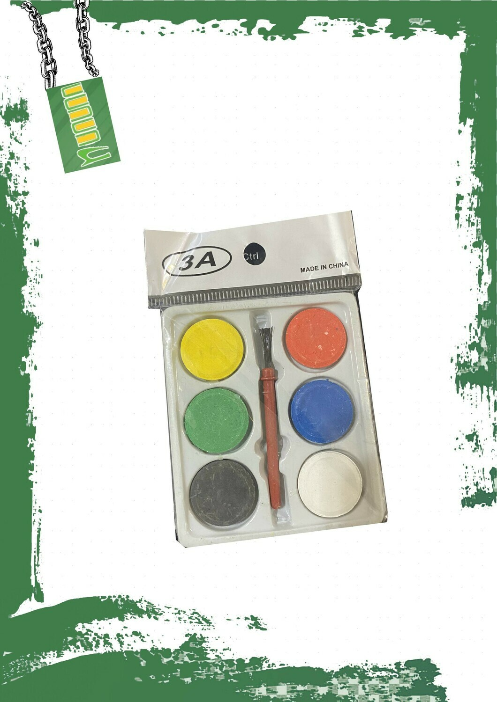 Small 6 watercolors set - طقم ألوان مياه حجر صغير 6 ألوان