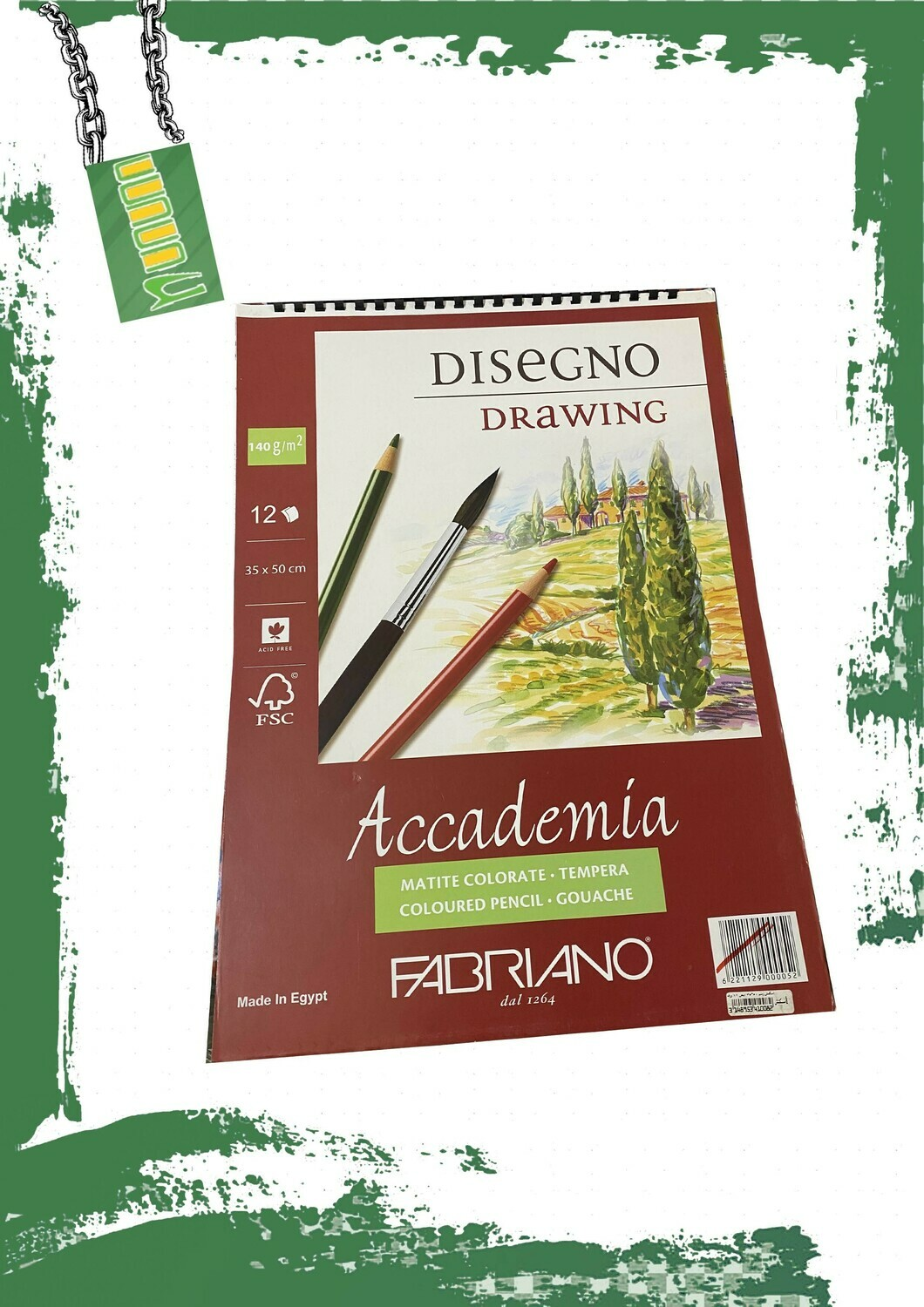 Fabriano Drawing Paper 140Gm 25*35Cm White - دفتر رسم فبريانو 140 جم