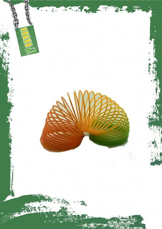 Colored plastic playing spring - سوستة بلاستيك ملونه