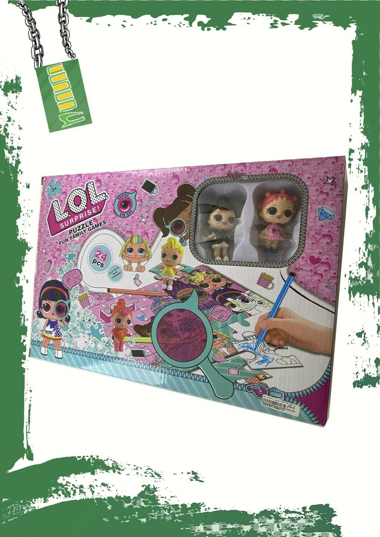 LOL Doll puzzle 2 faces - بازل لول وجهين 24 قطعة