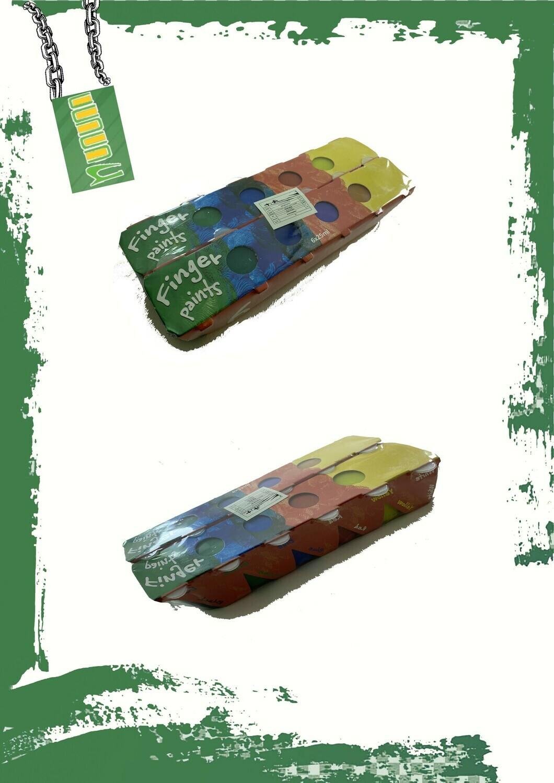 Poster & finger paints 12 colors - طقم 12 لون بوستر و ألوان يد