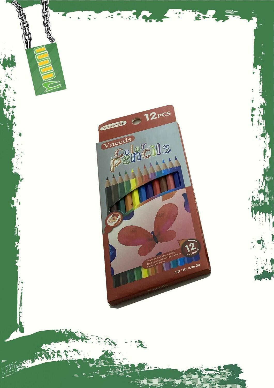Pencil colors 12 pencil set - علبة الوان خشب 12 لون